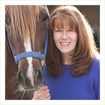 Jillian Brasch, author of The Last Gifts with Lafayette Peruvian Paso